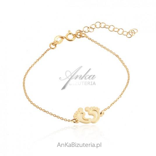 a131c1e9e0 Nowoczesna pozłacana biżuteria Subtelna bransoletka srebrna allegro