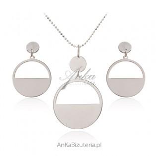 Biżuteria srebrna - elegancki komplet srebrny