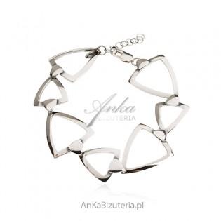 Biżuteria srebrna - Bransoletka srebrna