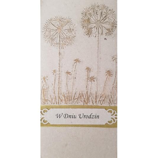 W Dniu Urodzin - życzenia z ręcznie robioną kartką
