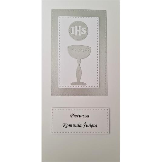 Pamiątka Pierwszej Komunii Świętej - ręcznie robiona kartka