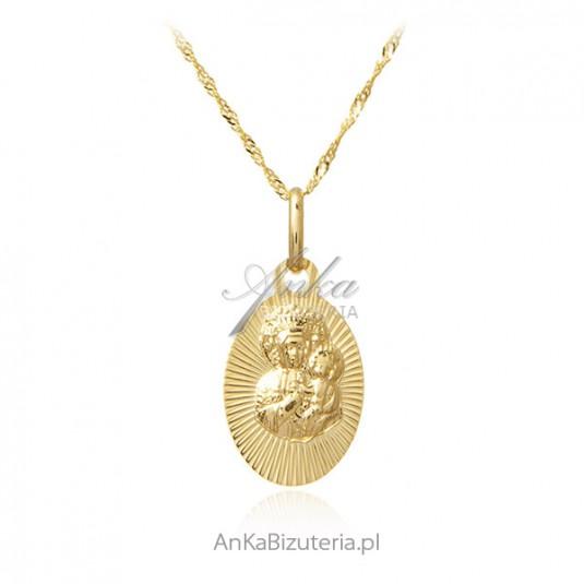 Medalik złoty Matka Boska Częstochowska - złoto pr. 585