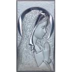 Obrazek srebrny Madonna 8,5 cm * 4,5 cm