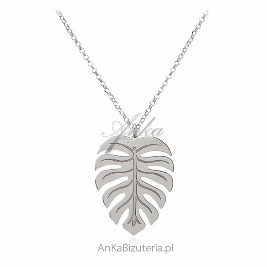 Srebrny naszyjnik PALMA modna biżuteria srebrna
