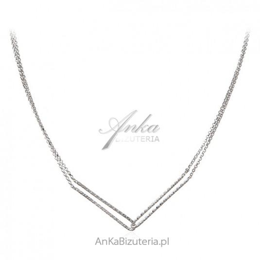 Srebrny naszyjnik Modna biżuteria włoska
