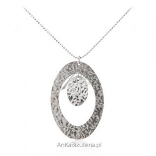 Naszyjnik srebrny karbowany - Piękna srebrna biżuteria włoska