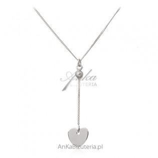 Srebrna biżuteria - naszyjnik z serduszkiem