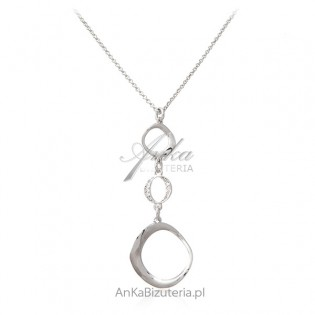 Piękny naszyjnik srebrny - Biżuteria srebrna