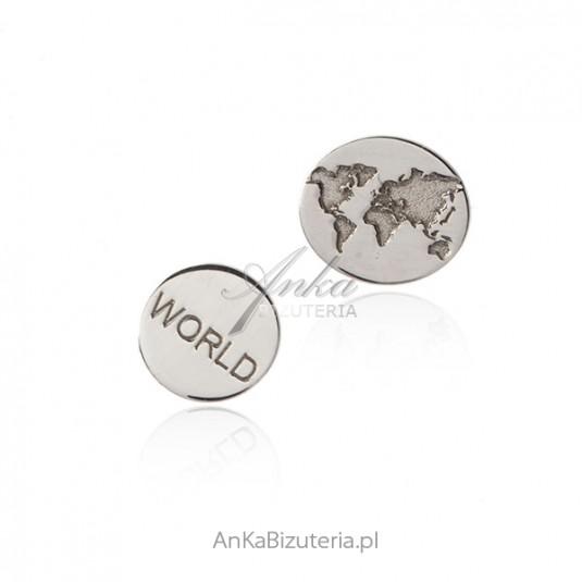 "Srebrne kolczyki ""Around the World"""