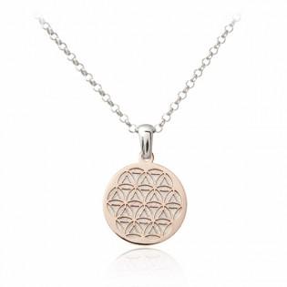 Srebrny naszyjnik WITRAŻ - pozłacany różowym złotem i satynowany