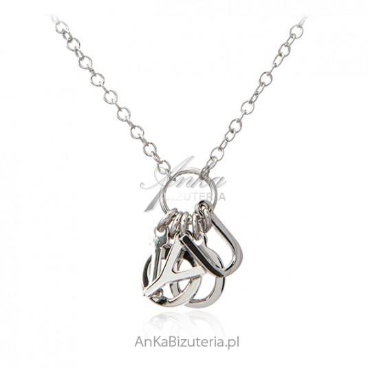 Srebrna biżuteria Naszyjnik srebrny I LOVE YOU