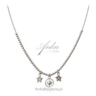 Biżuteria srebrna Naszyjnik z gwiazdkami