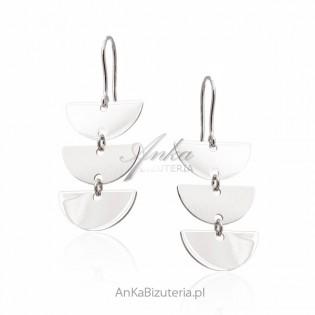 Kolczyki srebrne - modna biżuteria srebrna włoska
