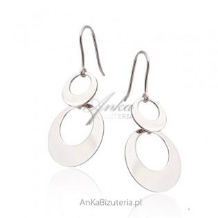 Kolczyki srebrne Modna biżuteria włoska