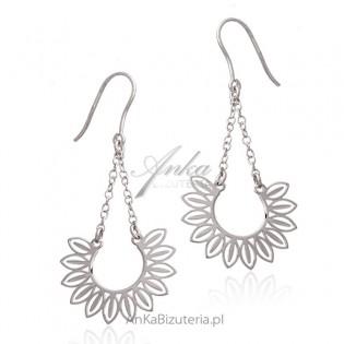 Srebrne kolczyki - Biżuteria srebrna włoska