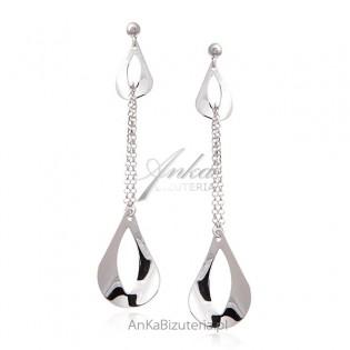 Eleganckie srebrne kolczyki - biżuteria włoska