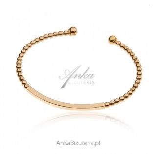 Bransoletka srebrna pozłacana - piękna biżuteria włoska