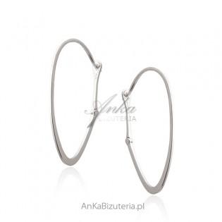 Kolczyki srebrne -Klasyka biżuterii - Modna biżuteria włoska