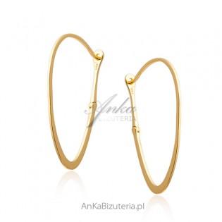 Kolczyki srebrne pozłacane - Klasyczna biązuteria - Włoski design
