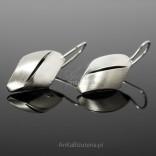 Śliczne i delikatne kolczyki na biglach-srebro