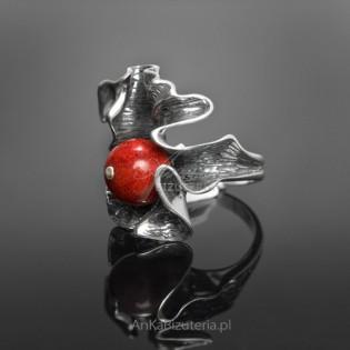Oryginalna Biżuteria: Pierścionek KORALOWA JESIEŃ