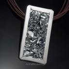 Srebrny oksydowany WISIOR