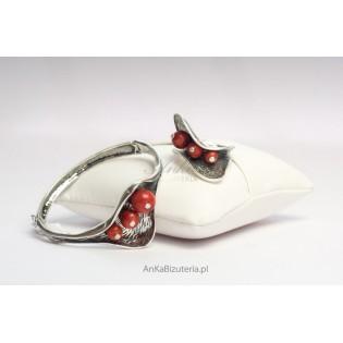 Komplet Bransoletka z Pierścionkiem-Biżuteria klasyczna