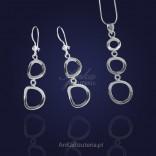 Długie kolczyki srebrne dla Kobiet