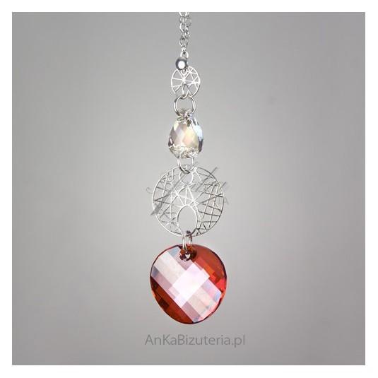 Srebrny naszyjnik z kryształami Swarovskiego SPARK.