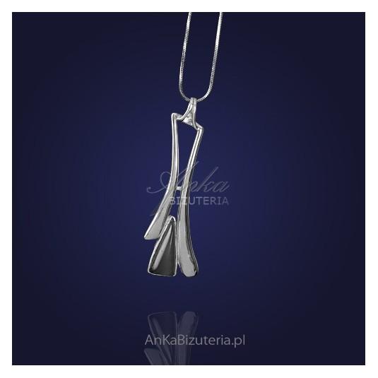 Biżuteria Srebrna Wisiorek srebrny z ulexitem.