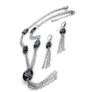 Kolia srebrna z kryształami Swarovski firmy SPARK