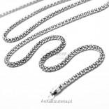 Srebrny łańcuszek 95cm świetny samodzielnie i do wisiorków z markazytami.