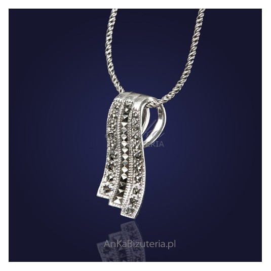 """Wisiorek srebrny z markazytami """"Biżuteryjna apaszka"""""""