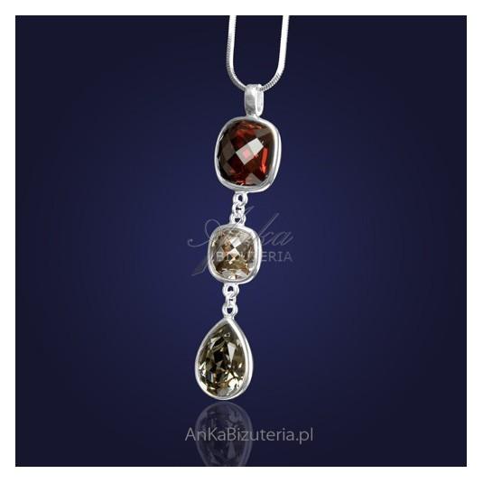 Ponadczasowy-Naszyjnik-Spark srebrny z kryształami SWAROVSKI