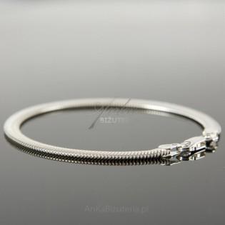 """Bransoletka srebrna """"Kaszmir"""" szerokość bransoletki 5mm."""