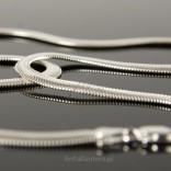 Łańcuszek srebrny 45cm SNAKE Kaszmirowy splot.