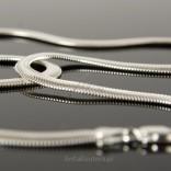 Naszyjnik łańcuszek srebrny kaszmirowy Żmijka o długości 50cm.