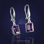 Kolczyki z kryształem Swarovski w kolorze fioletowym
