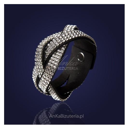 Efektowna bransoleta z ekskluzywnych kryształów SWAROVSKI ELEMENTS