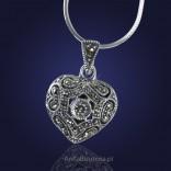 Obdarz ukochaną srebrnym SERCEM - biżuterią z pięknymi markazytami.