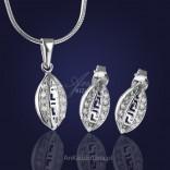 """Komplet biżuterii srebrnej: """" Zjawiskowe Greckie Cyklady"""""""