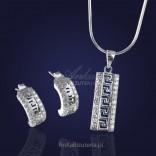 "Srebrna biżuteria: ""Artemis"" - cudny komplecik srebrny z cyrkoniami."