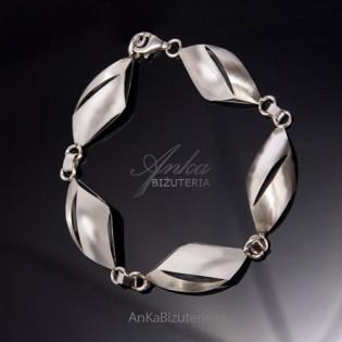 srebrna biżuteria dla pań - Bransoletka z łezkami