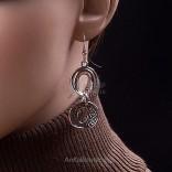 """Biżuteria :Kolczyki """"Santa Clara"""" - srebrne oksydowane."""