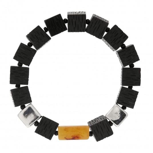 Jedyna w swoim rodzaju bransoletka w kostki pokryta srebrem i rodem duńskiej firmy Dansk Smykkekunst