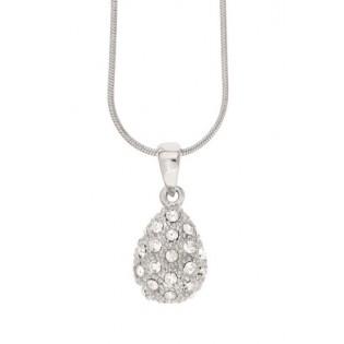 Wisiorek z kryształów na łańcuszku pokryty srebrem i rodem duńskiej firmy Dansk Smykkekunst