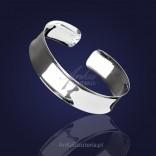 Bransoletka sztywna srebrna rodowana Wyjątkowo szykowna i kobieca