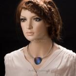 """Naszyjnik ze srebra i tytanu - Naszyjniki Srebrne """"Kolory tęczy""""- biżuteria artystyczna ręcznie wykonana"""