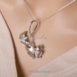 Biżuteria bliska naturze, srebrny komplet na wiosnę, lato oraz jesień