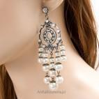 Hipnoza - wytworne, eleganckie kolczyki z perełkami i kryształkami - Lewanowicz